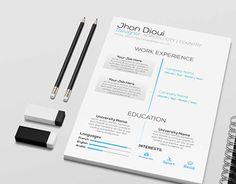 Clean And Minimal Flat ResumeCurriculum Vitae Design  Resume