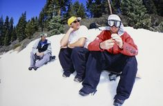 Dave Downing and KevinJones at the Nixon Jib Fest, 2001. Photo: Shem Roose