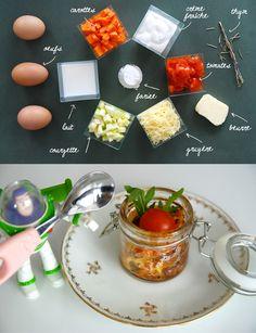 Flans aux légumes / vegetable tart
