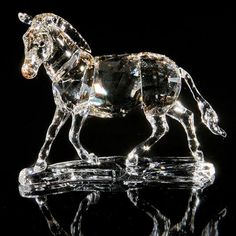Swarovski Zebra Figurine In Clear
