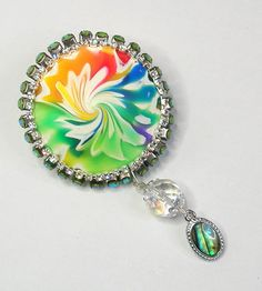 Polymer clay cordless pendant - brooches   by klio1961