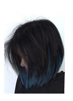 coolest blue-black hair tonesYou are in the right place about hair styles ideas Here we offer you the most beautiful pictures about the casual hair styles you are looking for. When you examine the 20 coolest blue-black hair tones part of the pi Hair Color For Black Hair, Cool Hair Color, Short Blue Hair, Short Dyed Hair, Dark Blue Hair, Short Colorful Hair, Colored Short Hair, Unique Hair Color, Blue Tips Hair