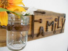 FAMILY  Rustic Barnwood Sign with Found Metal by thejoyfulnest, $30.00