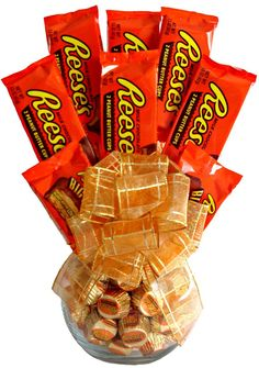 Hey, I found this really awesome Etsy listing at https://www.etsy.com/listing/156055384/reeses-lovers-delight-candy-bouquet