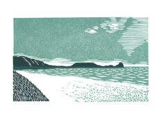 linocut by J Weston Lewis