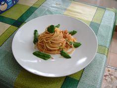Pàtes-Spaghetti  sauce   de  thon  et  roquette  Gino D'Aquino