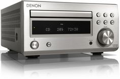 The Denon DM41DAB Mini System builds on its predecessor, featuring improved sound, a more refined style, and better facilities. The discrete analogue amplifier circuit reduces signal paths for greater clarity and impact, while the addition of Bluetooth will allow instant wireless connection to smartphones, tablet devices or computers/laptops with Bluetooth capability. Silver.