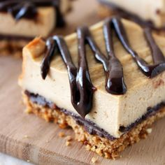 Chocolate Peanut Butter Pretzel Cheesecake Bars from handletheheat.com