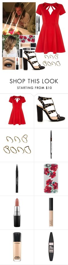 """Date Night With Harry"" by kennedey-lynn-freeman ❤ liked on Polyvore featuring River Island, ASOS, Marc Jacobs, Trish McEvoy, Casetify, Urban Decay, MAC Cosmetics, NARS Cosmetics and Maybelline"