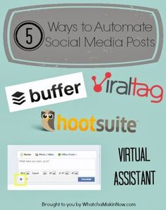 5 Ways to Automate Your Social Media Posts - Quick rundown or 5 different ways to automate your posts to save you time!