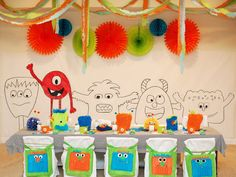 monster theme. great ideas