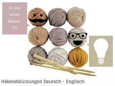 Häkelanleitungen auf Englisch ins Deutsche übersetzen mithilfe einer Tabelle. So könnt ihr ganz einfach die schönsten englischen Anleitungen häkeln.