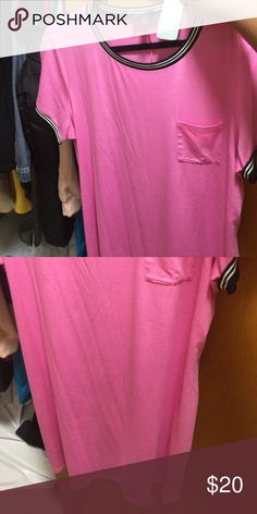 Bubblegum pink t-shirt dress Never worn before Forever 21 Dresses