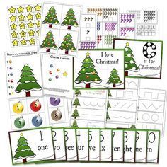 Free Christmas Preschool Printables from Confessions of a Homeschooler! Preschool Christmas Activities, Preschool Themes, Preschool Printables, Preschool Activities, Free Preschool, Free Printables, Writing Activities, Advent Activities, Counting Activities