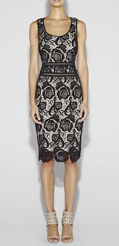 Nicole Miller  Neon Venice Lace Dress