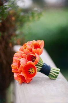 Ramo de novia con tulipanes - Elisabeth Millay Photography