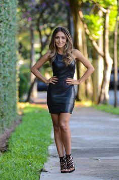 TENDÊNCIA - VESTIDO DE COURO - Juliana Parisi - Blog