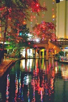 lights & color - (San Antonio River Walk)