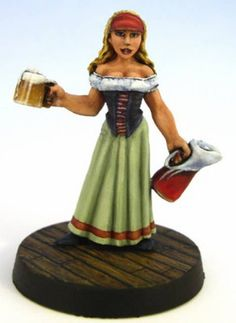 Hasslefree Miniatures Bar Wench   This reminds me that O-Fest only some months away :-)