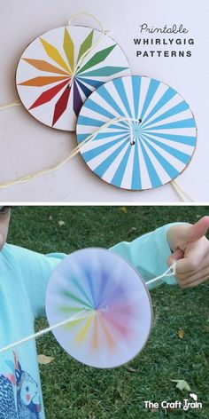 How to make a whirlygig - with printable template: