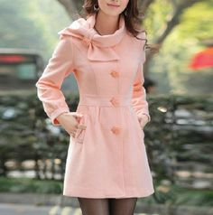 Rice-white cashmere dress coat big sweep women wool winter coat ...