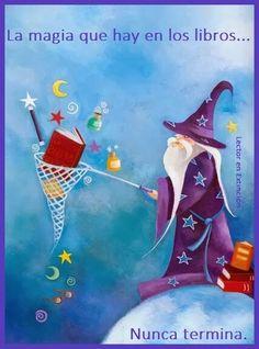 La magia que hay en los libros nunca termina #frases