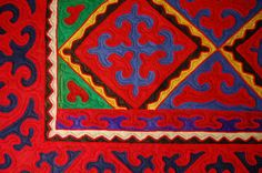 felt rugs | ... rug we stumbled across this beautiful Shyrdak Felt Rug on Unique Rugs