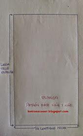 LO MIO ES COSER..... Y HACER PATRONES: Patrón Base Cuerpo Niña y Niño: Trazado Espalda Sewing Paterns, Easy Sewing Patterns, Dress Patterns, Pattern Drafting, Pants Pattern, Sewing For Kids, Sewing Crafts, Free Pattern, Lily