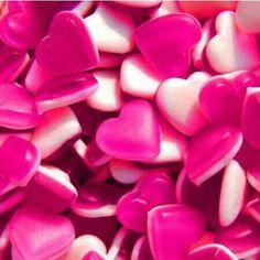 Pink gummy hearts