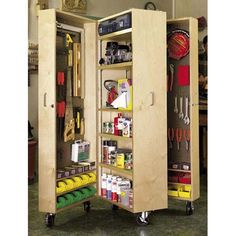 Mobile Tool Cabinet  - Downloadable Woodworking Project Plan to Build