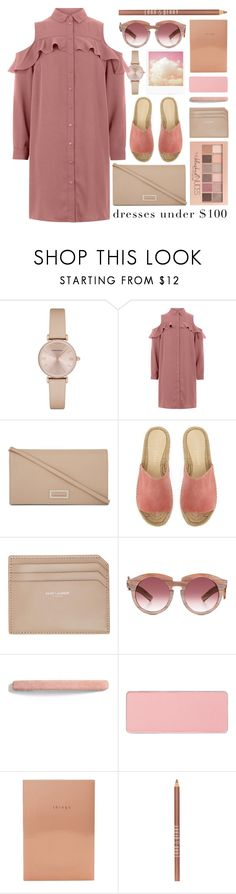 """blushed nudes"" by foundlostme ❤ liked on Polyvore featuring Emporio Armani, Maybelline, MaxMara, Mint Velvet, Yves Saint Laurent, Grey Ant, L. Erickson, shu uemura, Sweet and Sour and Lord & Berry"