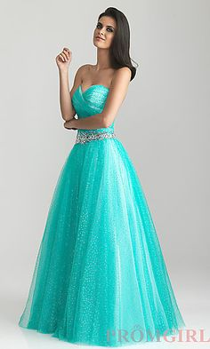 Strapless A-line Gown by Night Moves at PromGirl.com