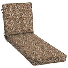 Patio Cushion Ideas - Hampton Bay Cayenne Scroll Quick Drying Outdoor Chaise Lounge Cushion - The Home Depot Patio Cushions, Floor Chair, Outdoor Spaces, The Hamptons, Cushion Ideas, Lounge, Furniture, Home Decor, Outdoor Living Spaces