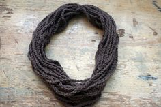 crochet infinity scarf- looks like a bunch of chains