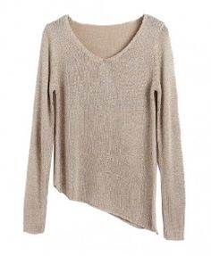 Irregular Sweater with V-neckline