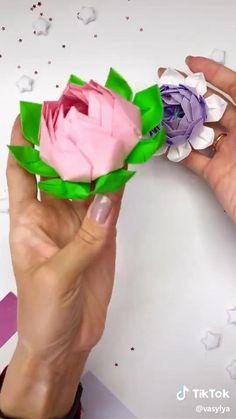 Cool Paper Crafts, Paper Crafts Origami, Cardboard Crafts, Diy Paper, Fun Crafts, Diy Crafts Hacks, Diy Crafts For Gifts, Diy Arts And Crafts, Creative Crafts
