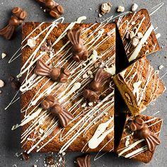 A dessert full of white chocolate and Maltesers is the stuff dreams are made of. One seriously good looking blondie to slice and share this Easte