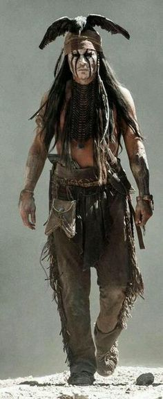 """Johnny Depp in character as """"Tonto"""" on the set of """"The Lone Ranger"""", 2013 release, fiming in Creede, Co"""