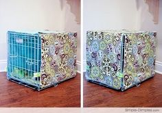 sewing patterns for kennel covers | Tutorial: Sew a dog crate cover + spray paint metal kennel! They would ...
