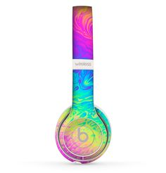The Neon Color Fushion Skin Set for the Beats by Dre Solo 2 Wireless Headphones Best In Ear Headphones, Bluetooth Headphones, Beats Headphones, 13th Birthday Wishes, Beats By Dre, Cool Things To Buy, Fun Things, Bubbles, Neon