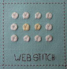 Steek 8, Web stitch - spinnensteek