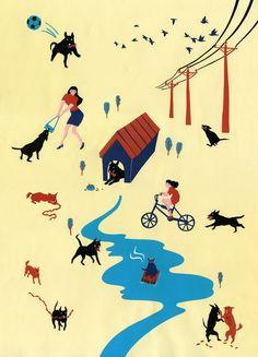 Dog's day Art Print