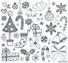 Vector: Christmas Sketchy Doodles Set