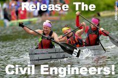 Release the #civilengineers! This week starts the 2014 #ConcreteCanoe!