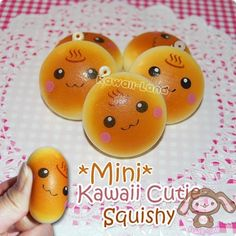 kawaii squishy buns!!! I loveeee squishies! I have 2 of the panda bear squishies, and one regular donut and one hello kitty donut squishie!