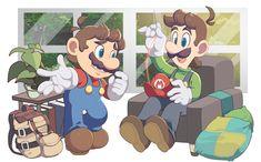 Nintendo World, Nintendo Sega, Super Mario Brothers, Mario Bros, Super Mario Art, Paper Mario, Friends Image, Mario Party, Brotherly Love