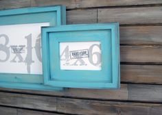 picture frames turquoise stacked style 4x6 by dacustomframes 1899