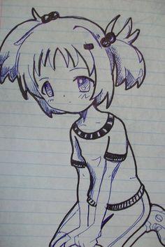 dibujos de anime en cuaderno - Buscar con Google