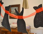 Little Black Dress Garland Paper Bachelorette Party Bridal Shower Girls Night Out Decoration Sparkly Black and Red Organza Ribbon
