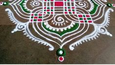 Padi Kolam, Sri Rama, Simple Rangoli, Dots, Holiday Decor, Stitches